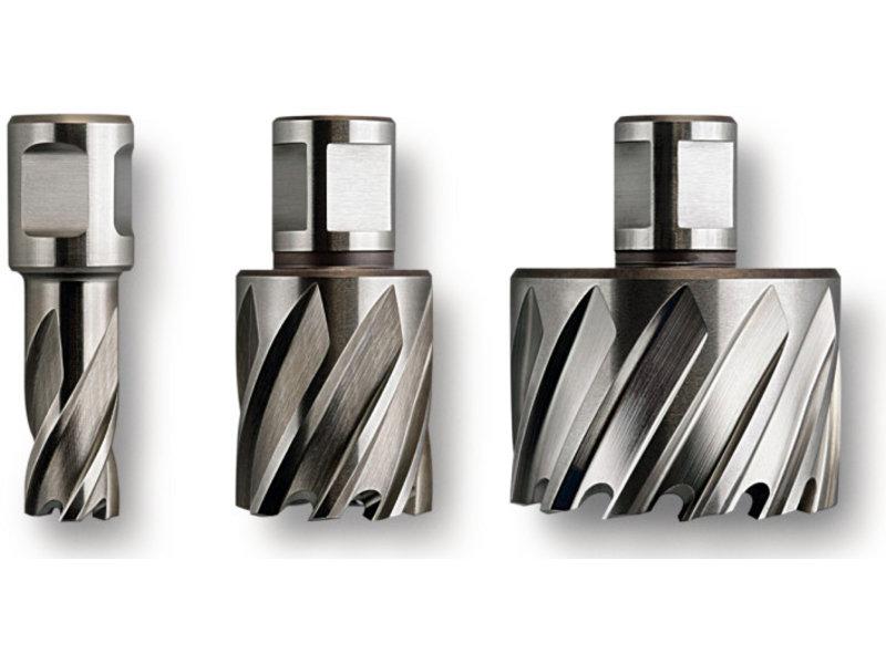 """Coronas perforadoras Nova 1"""" de acero de corte ultrarrápido (HSS) con alojamiento Weldon"""