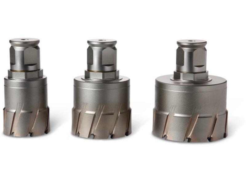Coronas perforadoras HM Ultra 50 con alojamiento QuickIN MAX/Weldon 32
