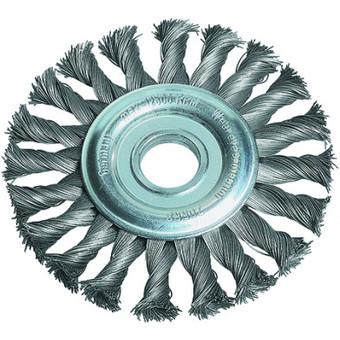 Gevlochten ronde borstel