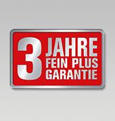 3 Jahre FEIN PLUS Garantie